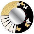 Musical Note Butterfly Mirror