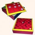 Reversible Gameboard- Tic Tac Toe / Slides 'n' Ladders