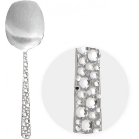 Crystal Rhinestone Serving  Spoons (Set of 2)