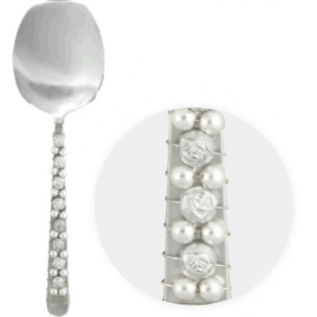 Silver Rose Serving Spoon (Set of 2)