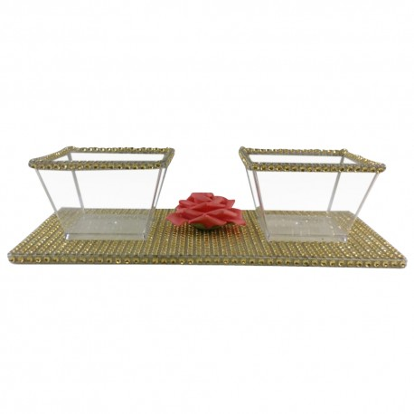 Gold Blossom Candy & Nut Tray