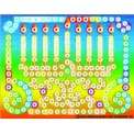 Menorah Dot by Color Sticker Kit, Large