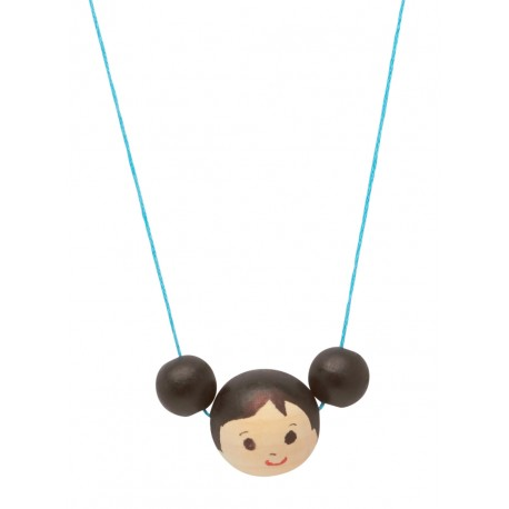 Pigtail Doll Necklace