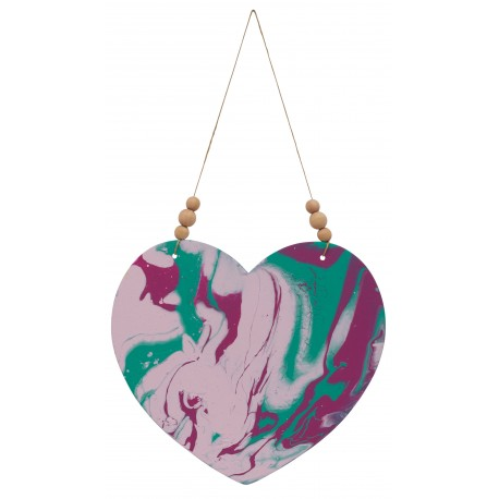 Marbleized Heart Wall decor