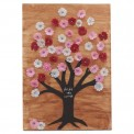 Ilan Stained Wood Blossom Tree Plaque